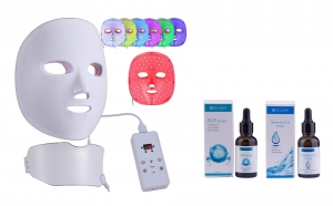 Wireless 7 Colour LED Face Mask Combo